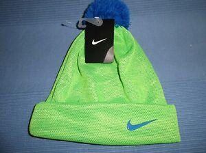Nike Boy's Cuffed POM Winter Sport Snowboarding Skiing Beanie Hat NWT