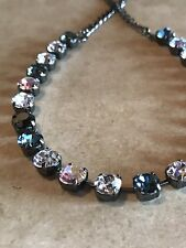 ❤️ Necklace  Smoked Sapphire Swarovski Crystals Antique Silver New Color Combo!