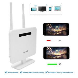 Portable 4G LTE CPE Wireless Router 300Mbps 2.4Ghz WiFi WAN LAN+SIM Card Slot