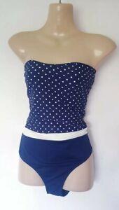 Anne Weyburn Navy Bandeau Swimsuit Size 16