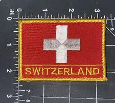 Switzerland Swiss National Country Flag Patch Badge Ensign Banner Zurich Bern Ch
