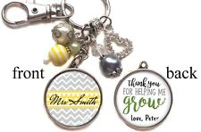 Personalized Teacher Keychain Double-Sided (2 sides) Teacher Appreciation