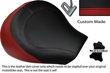 DARK RED & BLACK CUSTOM FITS SUZUKI INTRUDER VL 1500 98-04 FRONT SEAT COVER
