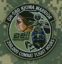 TALIZOMBIE© WHACKER WAR TROPHY VELCRO PATCH: OH-58D KIOWA WARRIOR 200K COMBAT HR