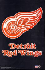 DETROIT RED WINGS Mini NHL Poster STICKER 8.5 x 5.5 Inch Show Your Team Support