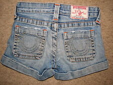 Girls True Religion Sammi jeans shorts size 8 ~ADORABLE~