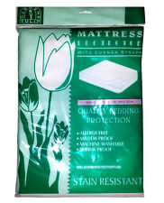 Set of 2 King Single 3/4 Matress Protector Stain Resistant Allergy & Mildew Free