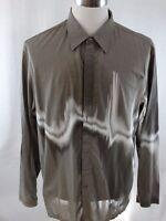 Kenneth Cole New York Long Sleeve Button Up Men's Shirt Size XXL - (Runs Small)