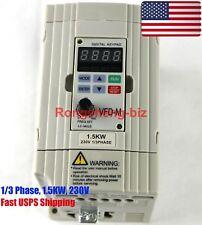 New VFD015M21A Inverter 1.5KW 230V 1/3 Phase Frequency Converter for Delta