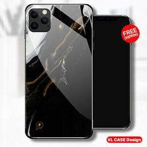iphone 13 pro case black Marble Tempered Glass Phone Case Samsung S21 Plus Gift
