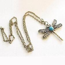 Charm Long Chain Retro Jewelry Dragonfly Necklace Hollow Wings Women's Fashion