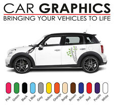 Mini car graphics stripes decals stickers cooper vinyl design mn3