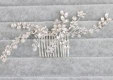 Wedding Hair Comb Rhinestone Headpiece Floral Crystal Bridal Dress Accessories