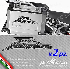 Set 2 Adhesives Africa Twin For Luggage/Saddle Bags Motorcycle True Adventure