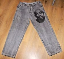 Makaveli HIP HOP Loose Fit 2 Pac Jeans Size 38 'All eyes on me'.Rare Item.