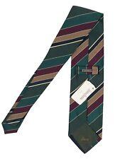 NEW Brioni Silk Tie!  *Green, Brown, Navy, Maroon & Creme Stripe*  *Italy*