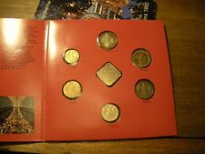 1992 Russia 7 Coin Set Folder Brilliant Uncirculated coins Moscow, St Petersburg
