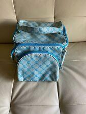 Ralph Lauren Travel Makeup Cosmetic Bag 3 Pc set light blue