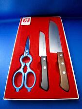 J.A. HENCKELS Vintage Kitchen Knife Set & Scissors Made In Solingen Germany Mint