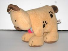 """Jellycat First Steps Plush Dog Book Rattle Crinkle Toy Baby Lovey 11"""" Puppy Tan"""