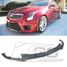 Fit 16-up Cadillac ATS-V ABS Plastic Primered Black Front Bumper Lower Lip