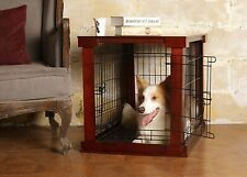 Dog Crate Medium Size End Table Side Sofa Wooden Top Kennel Cage Indoor