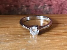 Superb Vintage 18ct White Gold 0.5ct Solitaire Diamond Dress Engagement Ring
