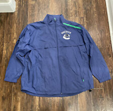 VANCOUVER CANUCKS NHL PRO RINKSIDE MENS FULL-ZIP BLUE JACKET FANATICS SIZE 2XL
