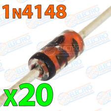 20x 1N4148 Diodos rectificadores 200mA 100V DO-35 electronica soldar pcb pic