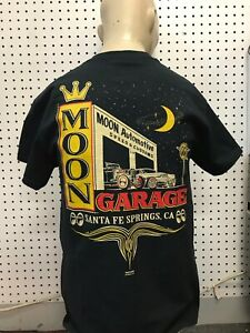 Mooneyes t-shirt Garage size L 1932 roadster hot rod ford gasser