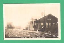 SCARCE 1913  PHOTO POSTCARD A.T. & S.F. RAILWAY STATION BELPRE, KANSAS