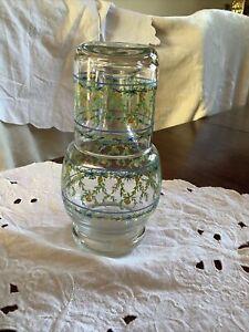 Vintage Bedside water carafe and glass Tumbler Set