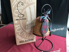 Longaberger Noel Bell Basket w/Wrought Iron and Tassle Tie - New w/orig. box