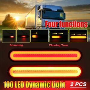 2x LED Car Truck Light Bar 4 in 1 Brake Turn Signal Lamp Rear Tail Light Stripe