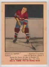 Doug Harvey 1951-52 Parkhurst Montreal Canadiens REPRINT ROOKIE Hockey Card #10