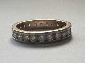 Vintage 1.20ct Diamond Chanel Set Full Eternity 18 Carat Gold Ring