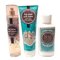 Lot Bath Body Works Hot Cocoa Cream Mist Lotion Ultra Shea Body Cream 3 Pc Set