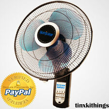 Oscillating Wall Mount Fan Heavy Duty Quiet Electric Mounted Digital Remote Room