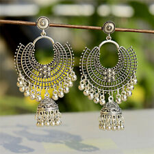 Boho Fashion Jewelry Indian Oxidized Colored Bead Silver Bohemia Gift Earrings