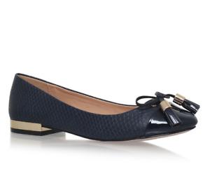 Miss KG Kurt Geiger Meena Womens UK 6 EU 39 Navy Blue Ballet Tassel Flats Shoes