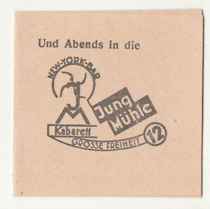 Werbe Karte New York Bar Jung Mühle Kabarett Grosse Freiheit 12 Hamburg !