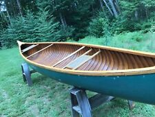 """New listing Rare 16' Old Town Wooden Canoe Model """"XX"""" built in 1908."""