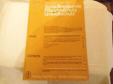 Zeitschrift: Anzeiger f Schädlingskunde Pflanzenschutz Umweltschutz t 4 / 198