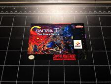 Contra III 3 The Alien Wars SNES box art video game decal sticker Super nintendo