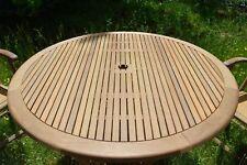 Holz-Gartentisch California aus Tropen-Hartholz Itauba 120cm rund von Belardo