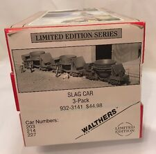 Walthers HO Slag Car 3 Pack Limited Edition Series 932-3141