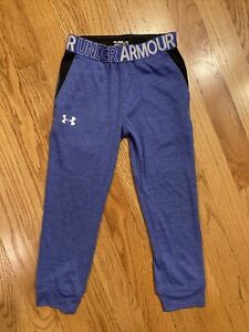 under armour size 4t girls athletic pants purple