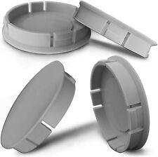 60mm / 55mm Grau Felgen Kappe Nabenkappen Felgendeckel Nabendeckel Universal
