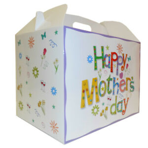 HAPPY MOTHER'S DAY GIFT BOXES - Gable Box, Gift Hampers for Mum, Gift Bag (pk10)