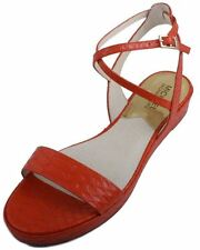 Michael Kors Kaylee Flat Womens Mandarin Embossed Leather Sandals Size 9.5